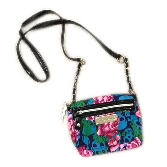 Betsey Johnson Handbags - Betsey Johnson Small Mini Skull Crossbody Bag  New